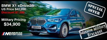 2021 BMW X1 xDrive28i - LIMITED TIME SPECIAL PROMO OFFER in Hohenfels, Germany