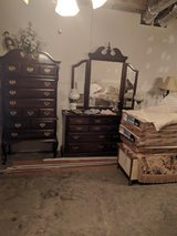 Cherry Dresser with Mirror in Fort Campbell, Kentucky