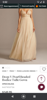 Prom dress size 7 in Baytown, Texas