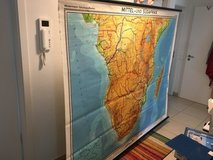 Old School-House Pull Down Map of Central-South Africa - German Edition - Alt Schulhaus Karte he... in Stuttgart, GE