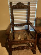Wood hand carved heirloom chairs/table set in Kingwood, Texas