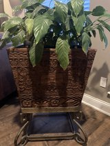All wood hand carved heirloom planters set of 2 in Kingwood, Texas