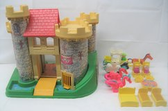 FISHER PRICE LITTLE PEOPLE - CASTLE SET - OVER 35 ACCESSORIES - #993 - 1974 in Naperville, Illinois