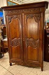 elegant French wedding cabinet with hand carved grapes in Stuttgart, GE