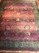 Kharma Burgundy-patterned room size rug in Naperville, Illinois