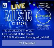 Live music free Concert in Alamogordo, New Mexico