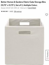 New, 2 Pack Collapsible Cube Storage Bins. Vanilla Color in Alamogordo, New Mexico