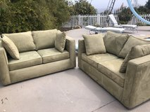 Two Moss Green Love Seats in Excellent Condition in Camp Pendleton, California