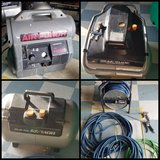 Air compressors, spare tank, air hoses in Okinawa, Japan