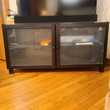 Espresso TV stand/ entertainment center best offer in St. Charles, Illinois