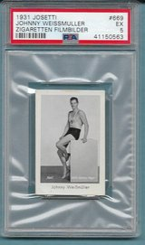 "1931 JOSETTI JOHNNY WEISSMULLER PSA 5 ""RC"" OLYMPIC GOLD WINNER, TARZAN in Ramstein, Germany"