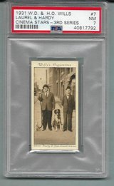 1931 WILLS LAUREL & HARDY (CINEMA STARS SERIES 3) PSA 7 (NM) in Ramstein, Germany