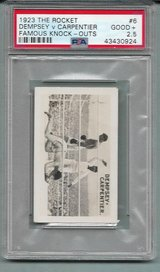 1923 JACK DEMPSEY/CARPENTIER FAMOUS KNOCK-OUTS PSA 2.5 (GOOD+) SECOND YEAR CARD in Ramstein, Germany
