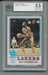 1973-74 TOPPS BASKETBALL #80 WILT CHAMBERLAIN BVG 5.5 PSA (EX+)? SUPER TOUGH in Ramstein, Germany