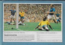 1975 SPRENGEL/HUBERTY #6 PELE WITH TAUSCHCOUPON TAB NOT PSA GRADED BUT 100% REAL in Ramstein, Germany