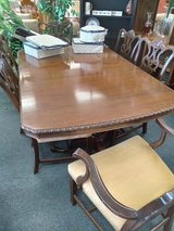 Antique Table, 6 Chairs, 3 Leaves in Naperville, Illinois
