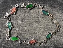Silver Abalone Shell Dolphin Link Bracelet in Fort Campbell, Kentucky