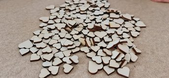 Hearts for crafting, wood (4mm thick) in Ramstein, Germany