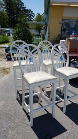 White Wood Bar Stool #1326-4390 in Camp Lejeune, North Carolina