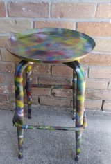 Metal side table in The Woodlands, Texas