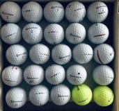 30 TaylorMade TP5/TP5X used golf balls near mint condition in Naperville, Illinois