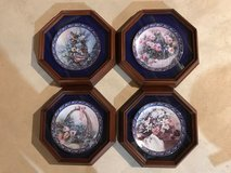 Floral Framed Collector Plates in Naperville, Illinois