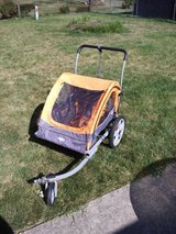 Instep Quick-N-EZ Double Tow Behind Bike Trailer/Stroller in Naperville, Illinois
