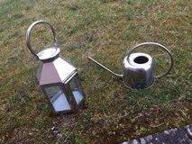 stainless steel lantern & watering can in Ramstein, Germany