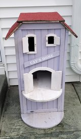 Trixie 3-Story Wooden Outdoor Cat Home in Naperville, Illinois