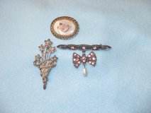 Vintage Dressy Pins - Choice of 3 in Naperville, Illinois