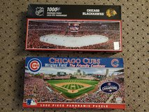 Chicago Cubs & Blackhawks Panoramic puzzles in Plainfield, Illinois