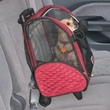 Snoozer 4-n-1 Wheel Around Travel Pet Carrier - Red/Black in Bolingbrook, Illinois