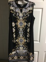 Beautiful size 2X Black ,gold,grey,and white dress. in Beaufort, South Carolina