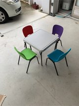 Kids Activity Table and Four Chairs in Okinawa, Japan