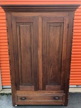Farm House Walnut Wardrobe 1800's in Cherry Point, North Carolina