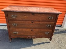 Mahogany Top Marble Dresser in Cherry Point, North Carolina