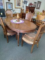 Dining Room Table, 4 Chairs, 2 Leaves and Pads in Naperville, Illinois