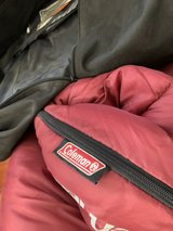 Coleman red adult sleeping bag in Alamogordo, New Mexico