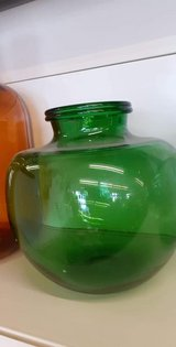Georious WIDE MOUTH / Mouth blown Demi Oliv bottle  green colour specific shape in Wiesbaden, GE