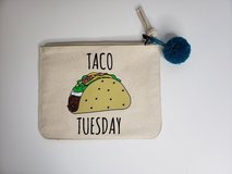 Taco Tuesday zipper bag - New with partial tag in Kingwood, Texas