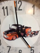 Harley Davidson and Ford truck clock in Fort Leonard Wood, Missouri