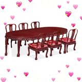 *CHERRY DARK ROSEWOOD DINING SET WITH 6 CHAIRS* in Okinawa, Japan