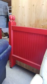 Red Wood Twin Headboard Only #1326-4376 in Camp Lejeune, North Carolina