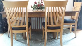 VERY WELL MADE DINING TABLE with 2-Leaf (seats 12)+ 3 CHAIRS (CAN BE SEPARATED) in Naperville, Illinois
