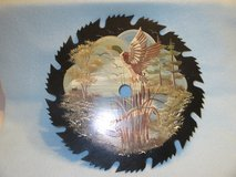 """Hand Painted Decorative 8"""" Saw Blade in Naperville, Illinois"""