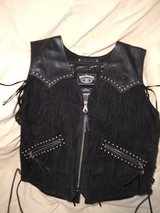Jack Daniels Leather Vest. (Large) in Fort Campbell, Kentucky