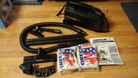 oreck xl portable canister vacuum  w/ accessory & 23 bags in Elizabethtown, Kentucky