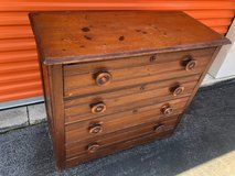 Antique Yellow Pine 4 Drawer Chest in Cherry Point, North Carolina