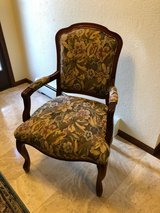 Queen Anne Fabric Armchair & Two Pillows in Morris, Illinois