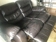 Leather Couch (Pick Up) in Okinawa, Japan